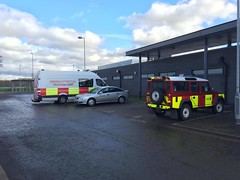 Cambuslang, Fire and Rescue, Land Rover Defender 110 and Mercedes Sprinter