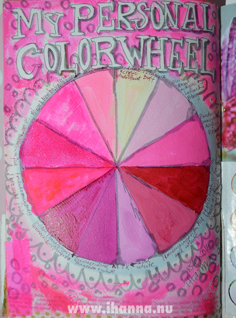 My personal color wheel - art journal page by iHanna