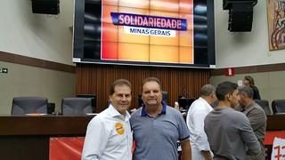 Ato de filiação do deputado federal Laudivio Carvalho
