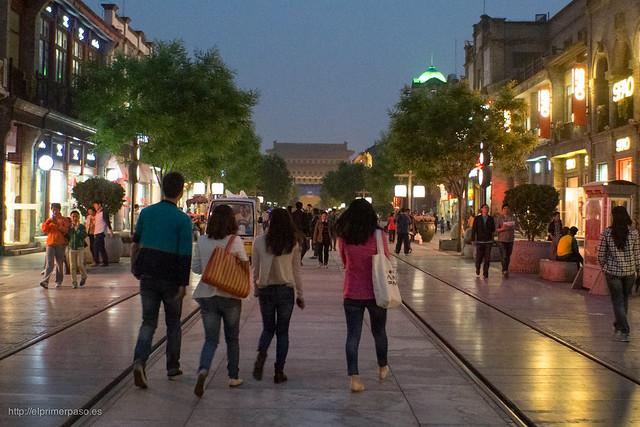 Beijing - Calle Qianmen