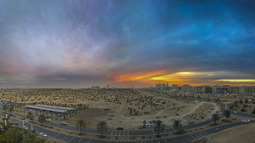 blue sunset sky panorama cloud golden nokia dubai outdoor pano adobe hour 950 lumia lightroomcc lumia950