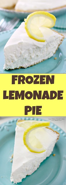 Frozen Lemonade Pie collage.