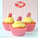 Gluten Free Rhubarb & Custard Cupcake Recipe