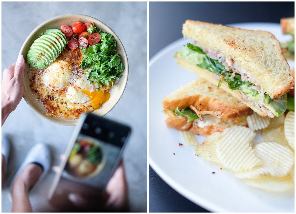 Brawn & Brains Coffee. Oven Baked Molten Eggs and Sandwich.