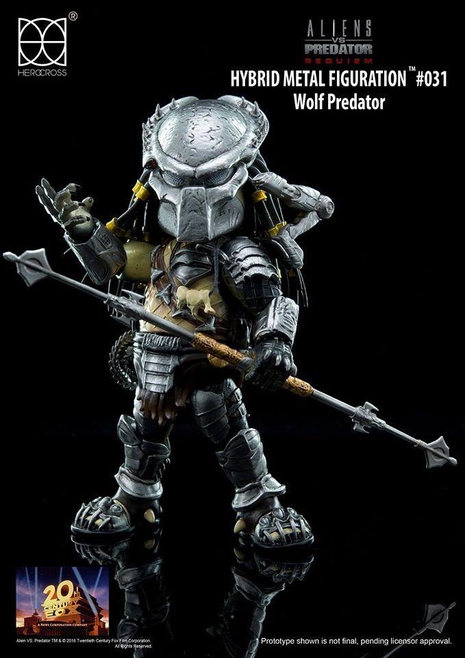 【完整官圖、販售資訊更新】HEROCROSS【孤狼】異形戰場2:適者生存 Wolf Predator HMF#031