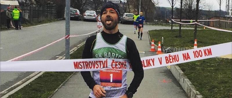 Brunner se stal potřetí za sebou Mistrem České republiky v běhu na 100 km