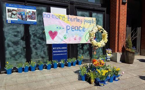 Marathon bombing memorial
