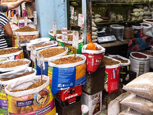 Merida: le marché municipal Lucas de Gálvez et ses stands de nourriture pour chiens