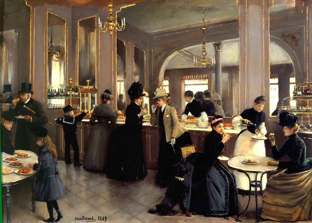 La Patisserie Gloppe au Champs Elyssées by Jean-Georges Béraud - 1889