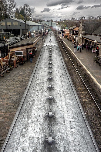 Bridgnorth - Severn Valley Railway - carriage rooftops at Bridgnorth Station