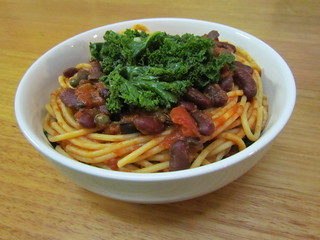 Puttanesca Bowl with Sauteed Kale