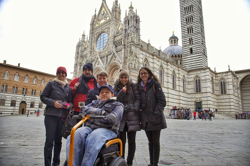 'Europe Without Barriers' group in Siena, Italy