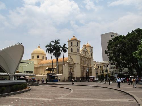 Tegucigalpa: la Plaza Morazan et sa cathédrale