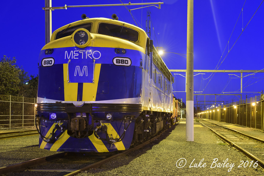 B80 is seen stabled in 5rd at Carrum by Luke's Rail Gallery