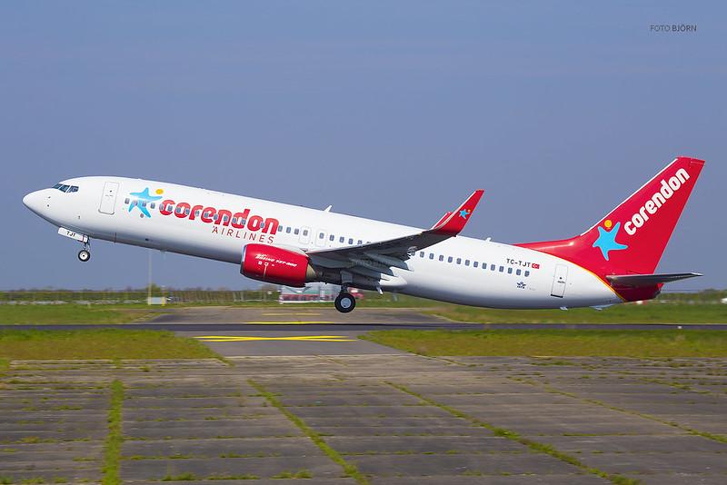 TC-TJT Corendon Airlines Boeing 737-8HC(WL), Maastricht Aachen Airport