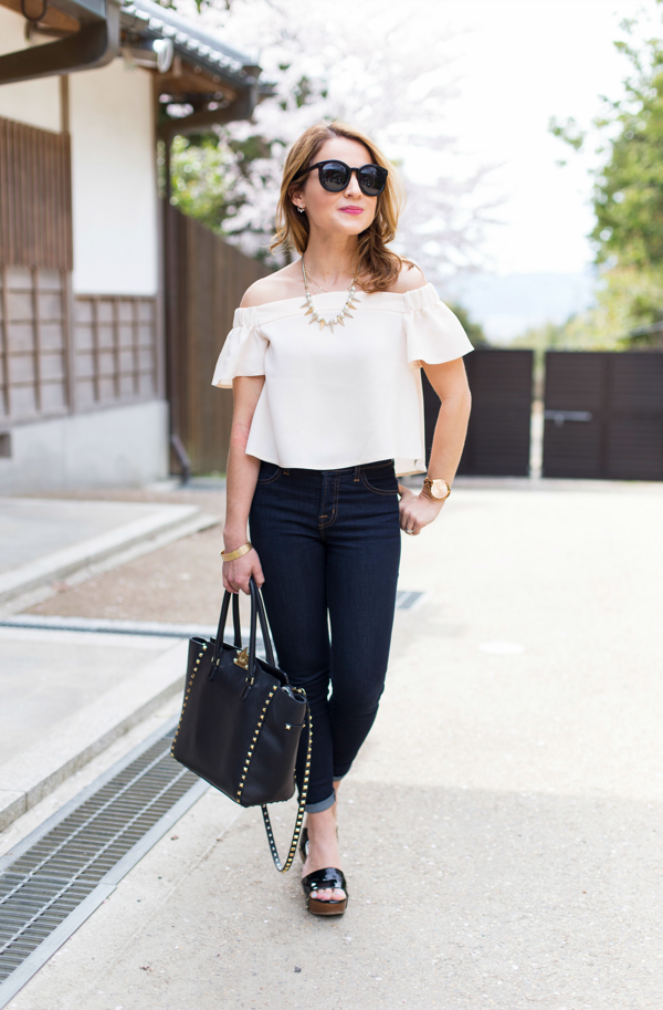 Off Shoulder Topshop Blouse