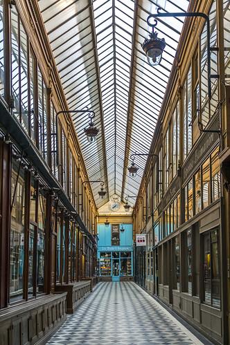 Passage Jouffroy, coming from Passage Verdeau, Paris, France