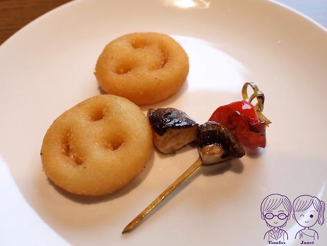 14 藝廊景觀餐廳 香菇甜椒串