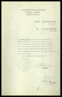 Court Judgement in relation to Compensation payment after rail accident near Hokitika (1937)
