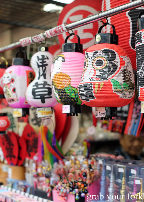 Lanterns for sale at Nakamise, Sensoji Temple, Asakusa, Tokyo