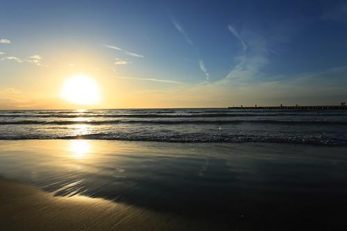 Tramonto a Torregaveta: la spiaggia