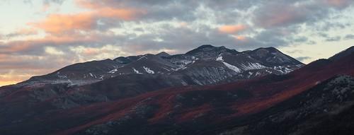 winter sunset sea sky snow mountains clouds nikon croatia adriatic rijeka platak d600