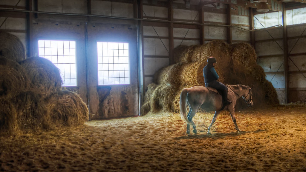 Indoor Ring with Hay