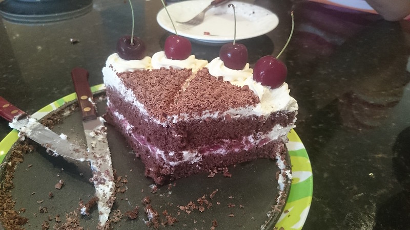 Black forest cake interior
