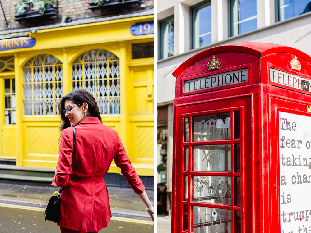 red and yellow in covent garden london