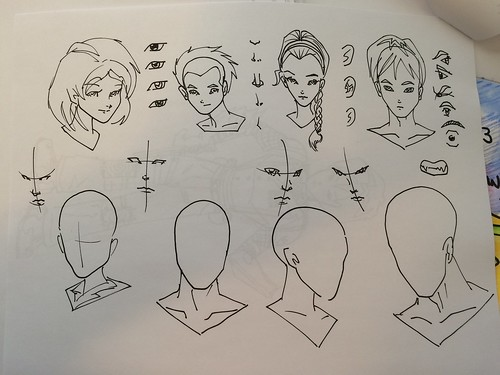 How to Sketch Manga characters handout