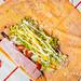 货元甲 开在杭州大城西的饼店 貌似是要打造成饼界的星巴克 店内有卷饼、沙拉、咖啡以及部分焗烤的小吃...