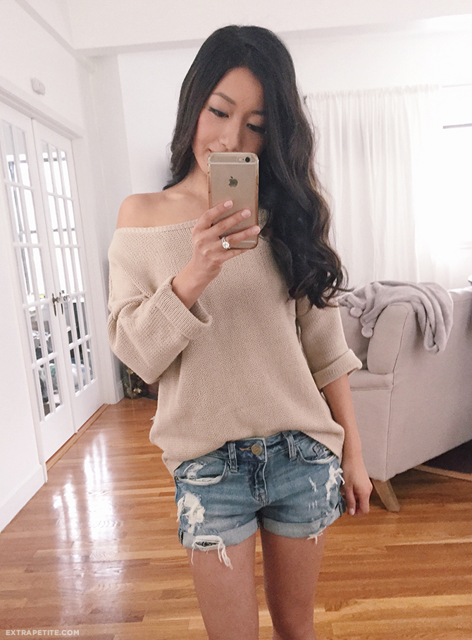 off shoulder sweater casual h&m slouchy