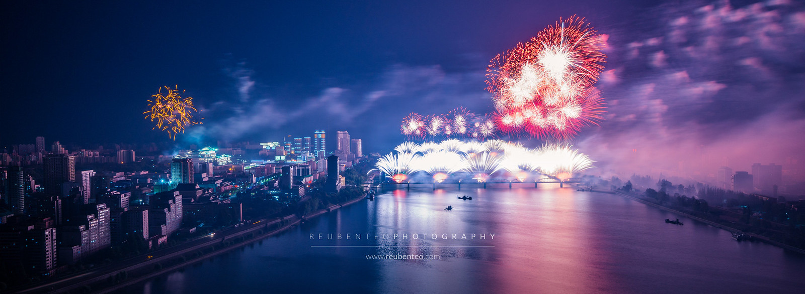 Pyongyang City Fireworks