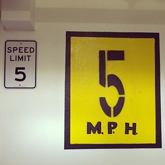 Day - 49 of 366 I can't drive 55, much less 5! #366project #speedlimit #parkinggarage