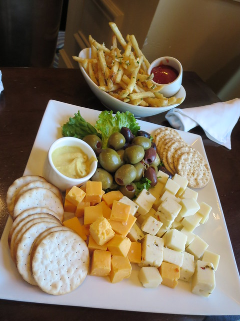 Cheese plate and truffle fries