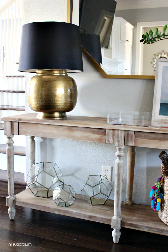 Hi Sugarplum | How to Style a Console Table