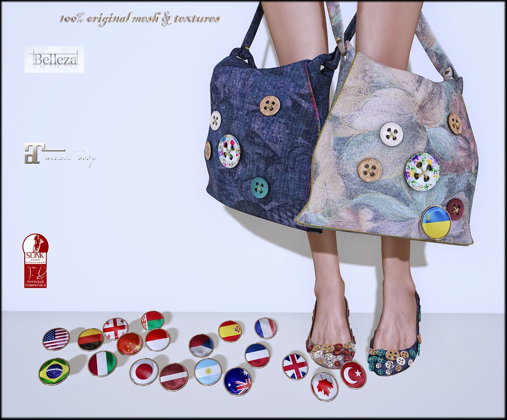Bags, flats and pins by ChicChica OUT @ Lost&Found