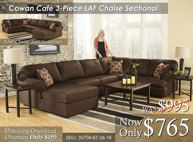 Cowan Cafe 3 piece Sectional