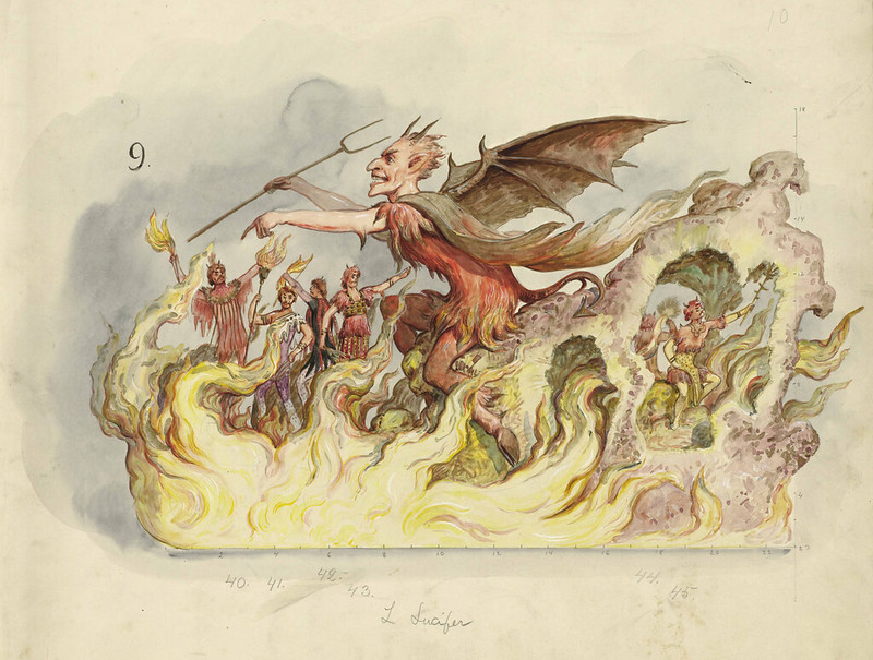 Bror Anders Wikstrom - Lucifer, float design from Krewe of Proteus, 1904