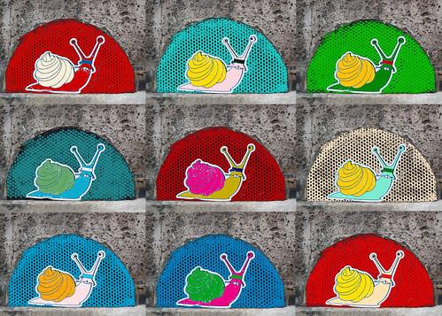 """""""Snails"""" à la Warhol"""