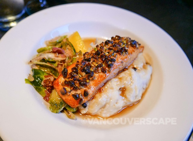 The Keg Yaletown pistachio-crusted salmon