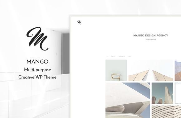 Mango v1.0 – Portfolio WP Theme