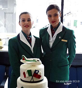Alitalia TCP y torta en Chile (RD)