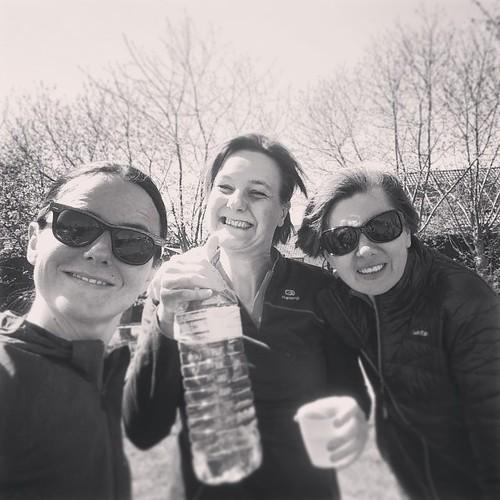 Ekiden Evergem. Met de helft van het vrouwenteam. #stax #evergem #ekiden #running #runstagram #run