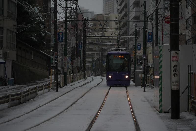 Tokyo Train Story 雪の都電荒川線 2016年1月18日