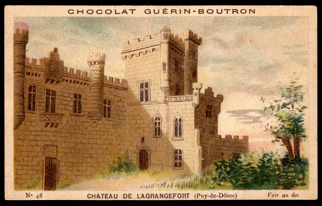 French Tradecard - Chateau de Lagrangefort