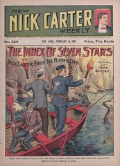 """""""The index of seven stars, or, Nick Carter finds the hidden city"""" in New Nick Carter weekly (New York, N.Y. : 1903), no. 529"""