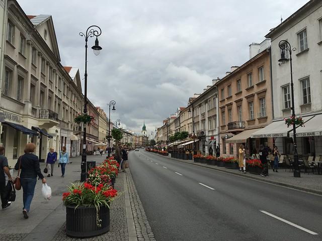 Warsaw street scene