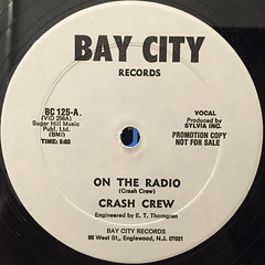CRASH CREW:ON THE RADIO(LABEL SIDE-A)