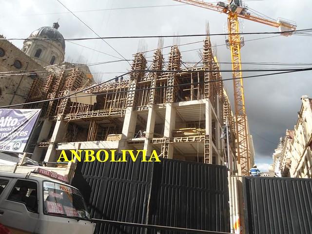 AVANZA LA CONSTRUCCIÓN DEL NUEVO PALACIO DEL PRESIDENTE EVO EN LA PAZ